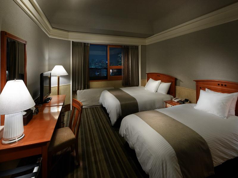 酒店两点透视房间手绘图